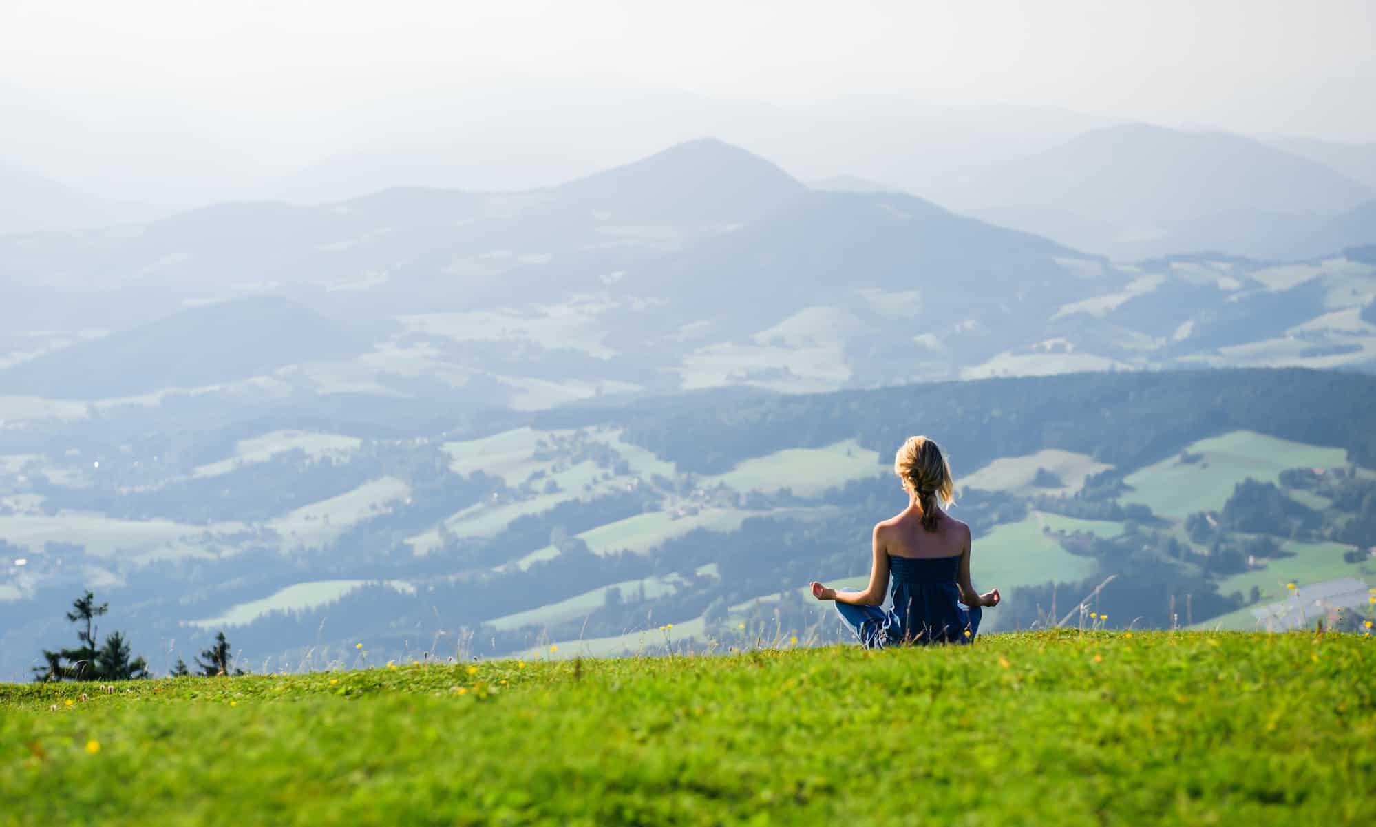 meditation draußen